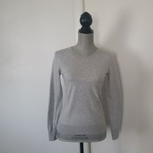 BANANA REPUBLIC Women's Heather Gray Thin Pullover